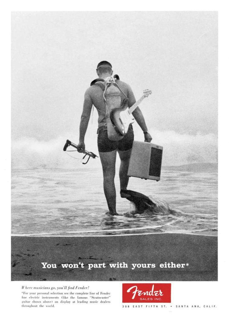گیتاریست Fender قادر است به زیر آب برود