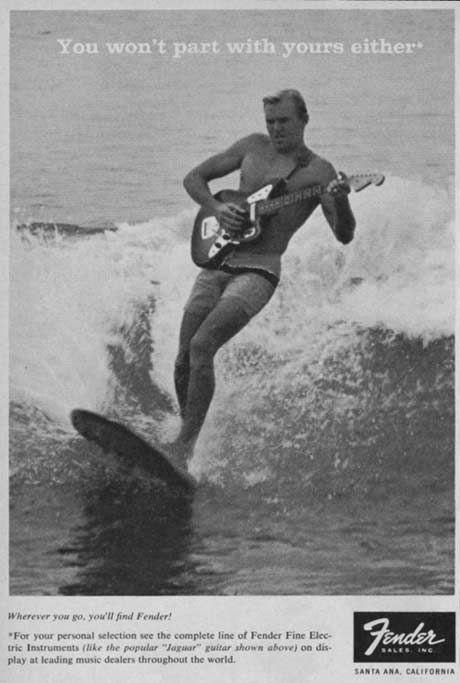 دارندگان Fender می توانند گیتارهای خود را به ساحل بیاورند